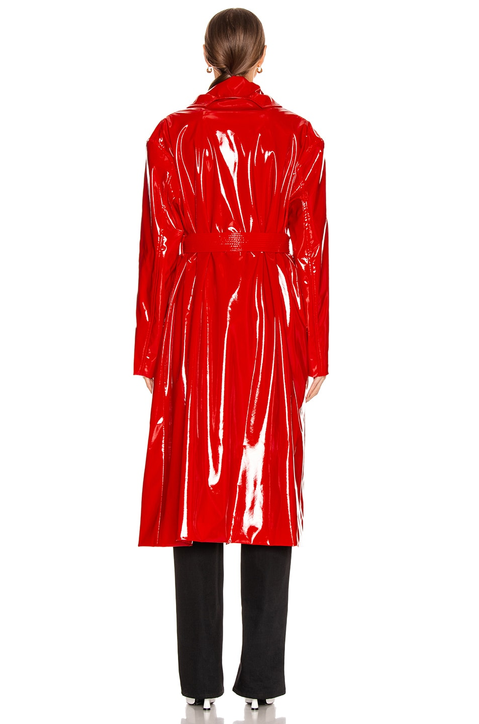 Image 4 of Balenciaga Fitted Trench in Masai Red