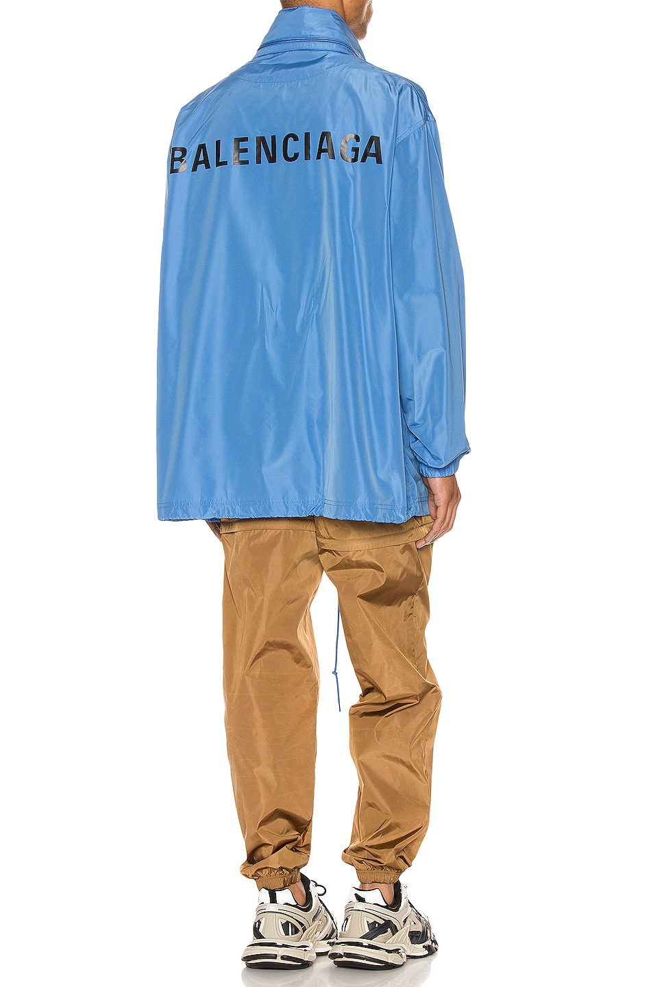 Image 1 of Balenciaga Logo Windbreaker Jacket in Sky Blue