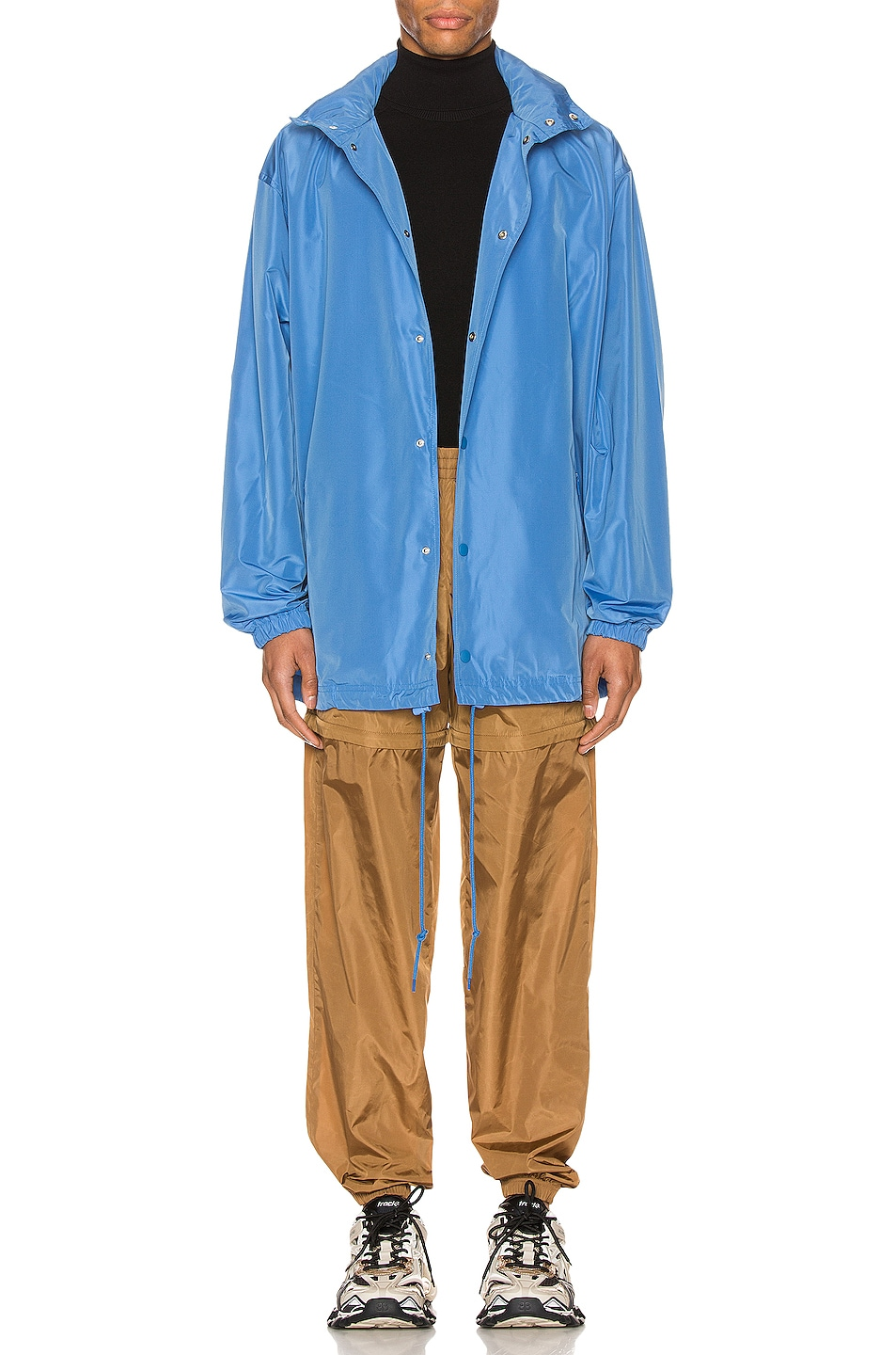 Image 2 of Balenciaga Logo Windbreaker Jacket in Sky Blue