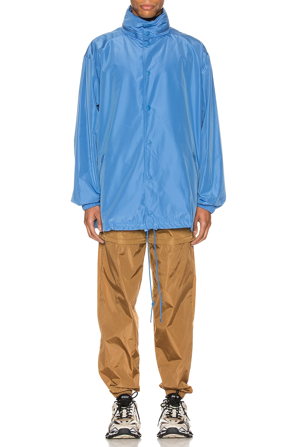 Image 3 of Balenciaga Logo Windbreaker Jacket in Sky Blue