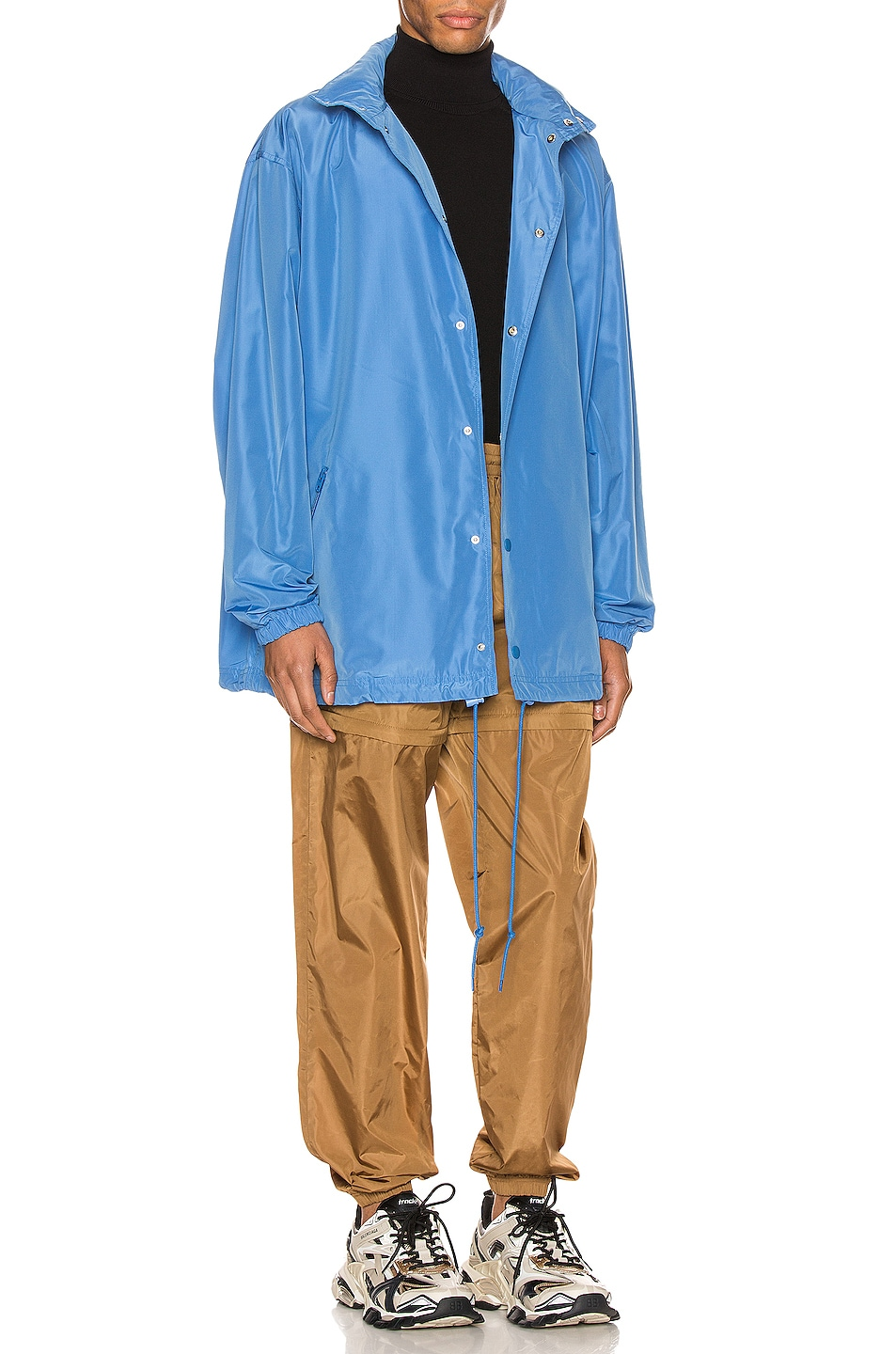 Image 4 of Balenciaga Logo Windbreaker Jacket in Sky Blue