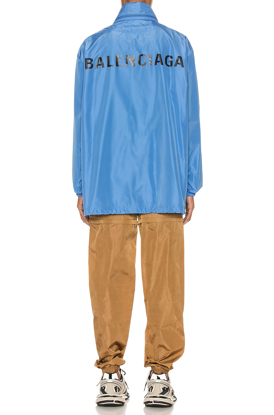 Image 5 of Balenciaga Logo Windbreaker Jacket in Sky Blue