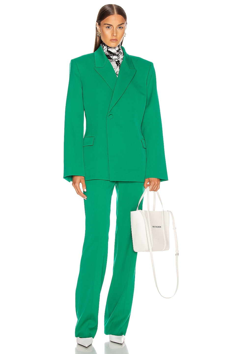 Image 4 of Balenciaga Waisted Jacket in Emerald Green