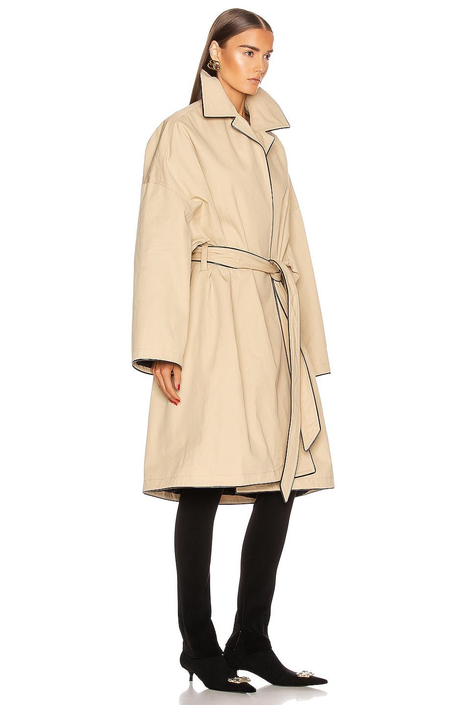 Image 3 of Balenciaga Short Cocoon Coat in Creme