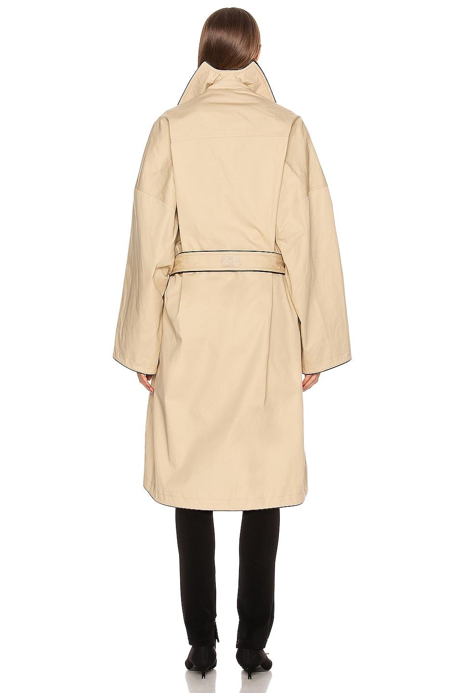 Image 4 of Balenciaga Short Cocoon Coat in Creme