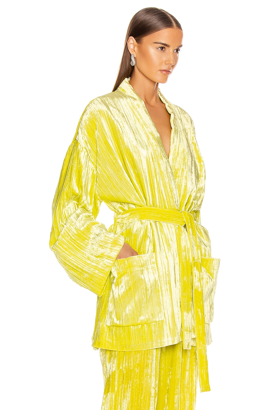 Image 2 of Balenciaga Pajama Jacket in Citrus Yellow