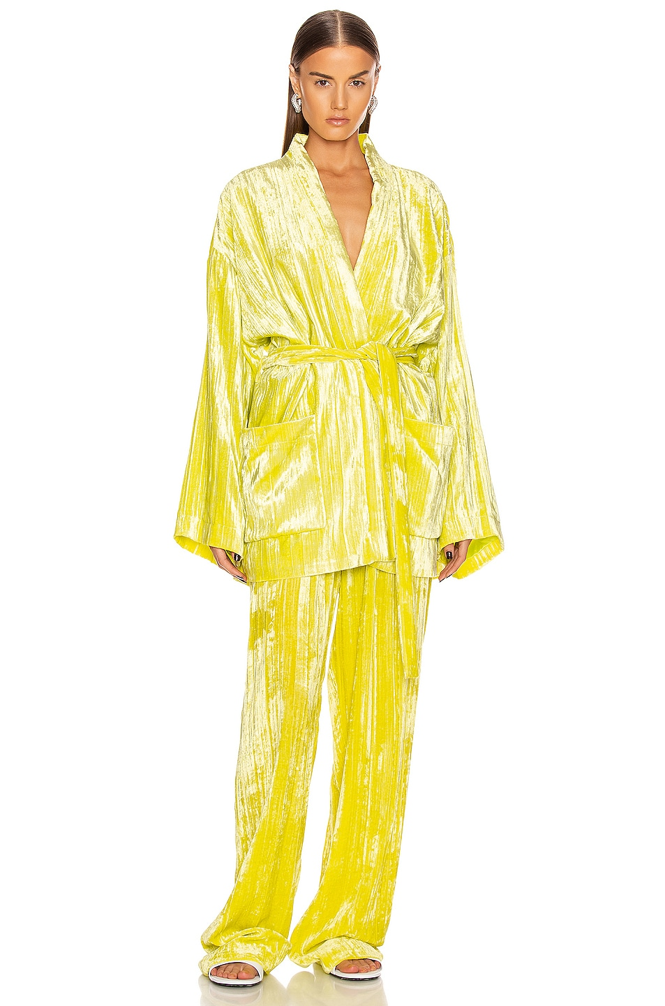 Image 4 of Balenciaga Pajama Jacket in Citrus Yellow