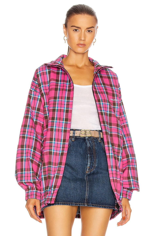 Image 1 of Balenciaga Zip Up Jacket in Pink