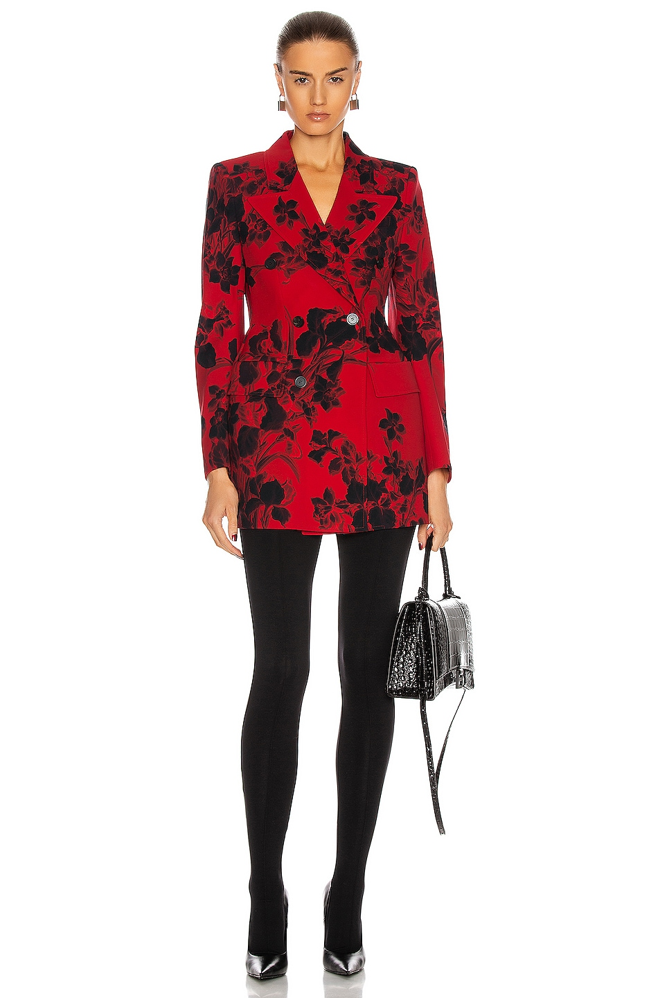 Image 1 of Balenciaga Hourglass Blazer in Red