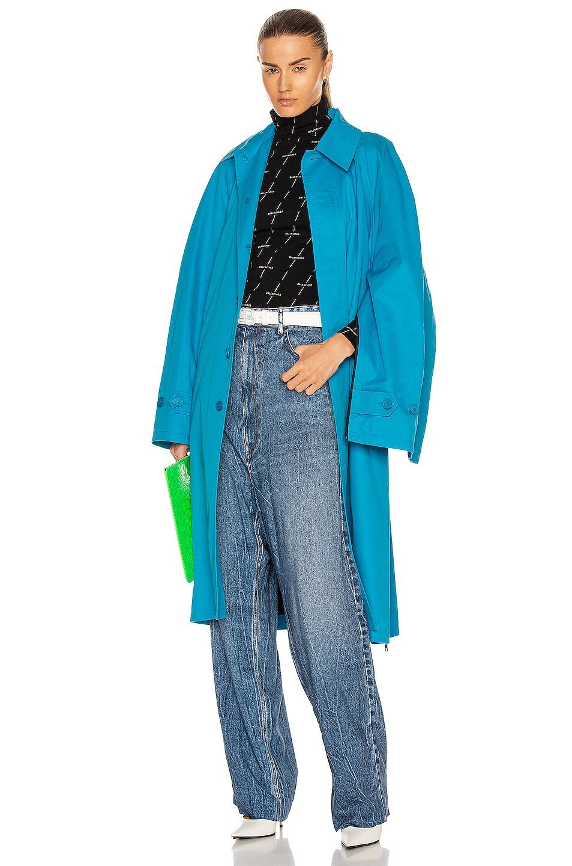 Image 1 of Balenciaga Zip Carcoat in Cyclades Blue