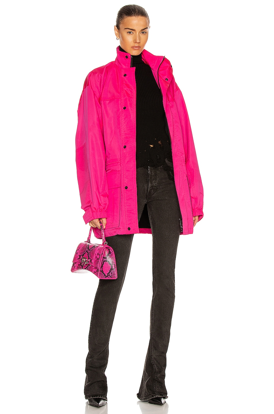 Image 1 of Balenciaga Light Parka in Fluo Pink