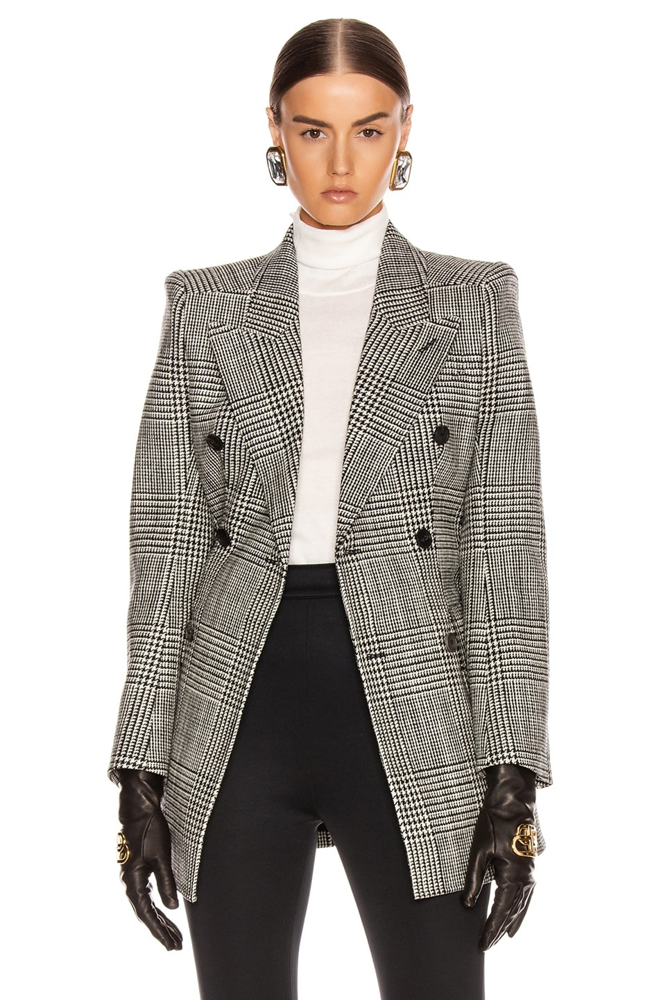 Image 2 of Balenciaga Hourglass Blazer in Black & White