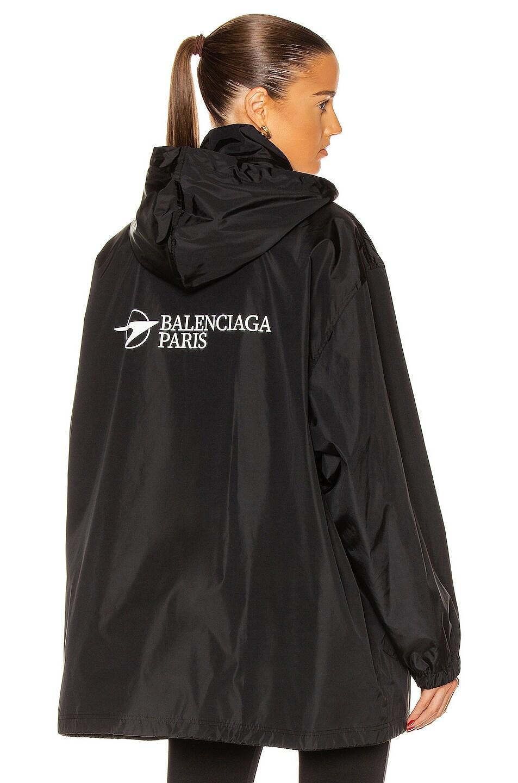Image 1 of Balenciaga Rain Jacket in Black