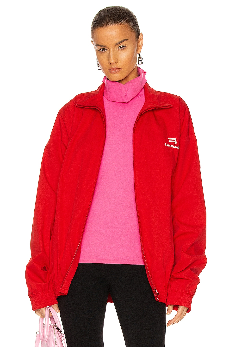 Image 1 of Balenciaga Tracksuit Jacket in Red