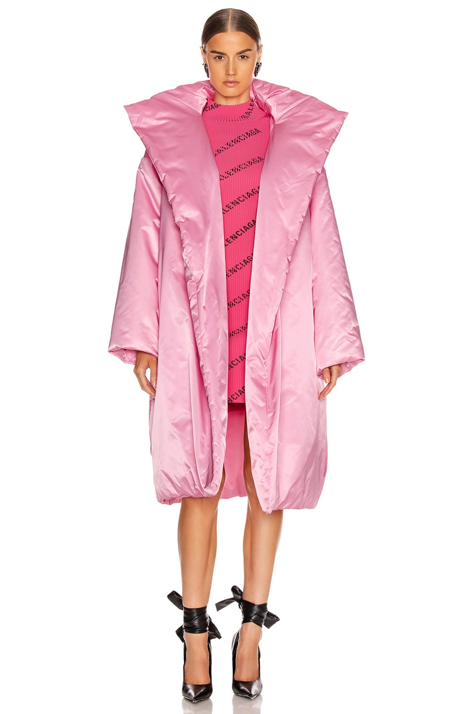 Image 2 of Balenciaga Short Padded Coat in Pink