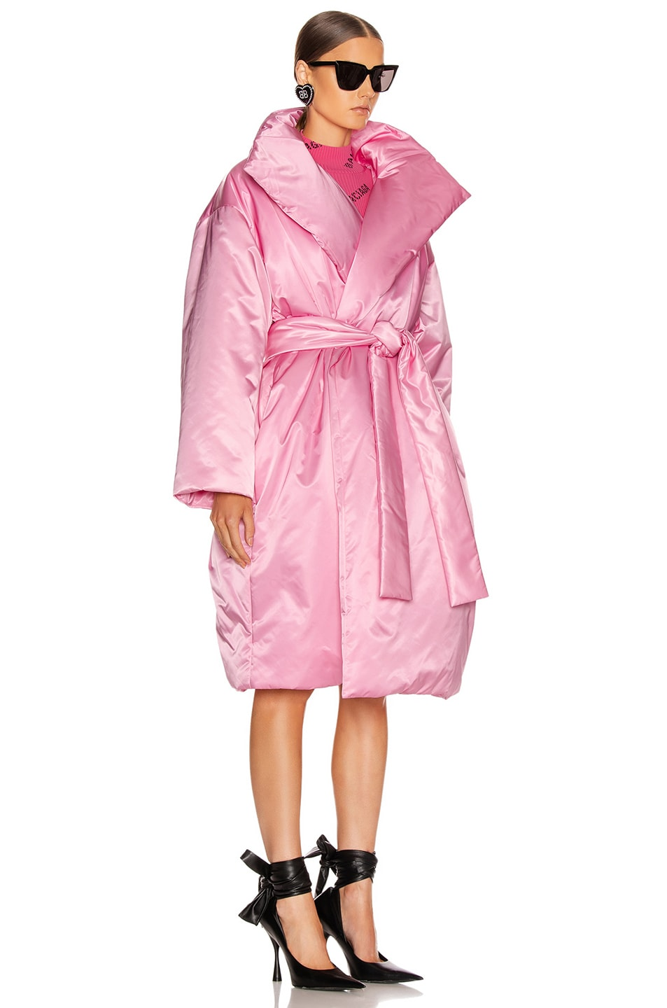 Image 3 of Balenciaga Short Padded Coat in Pink