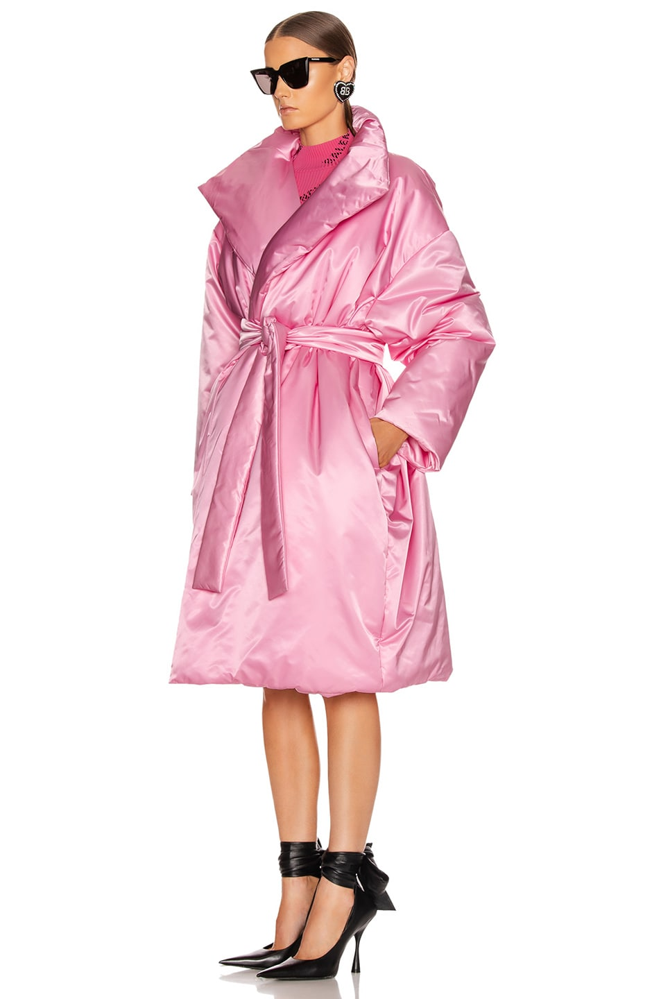 Image 4 of Balenciaga Short Padded Coat in Pink