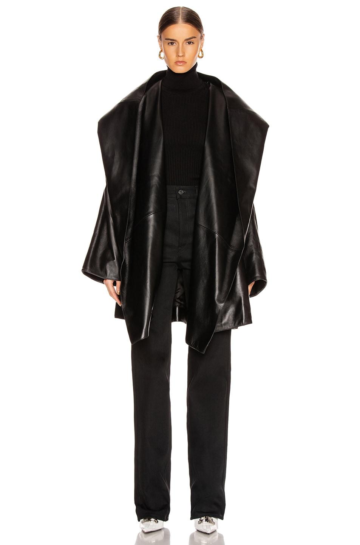 Image 2 of Balenciaga Incognito Coat in Black
