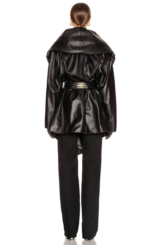 Image 5 of Balenciaga Incognito Coat in Black