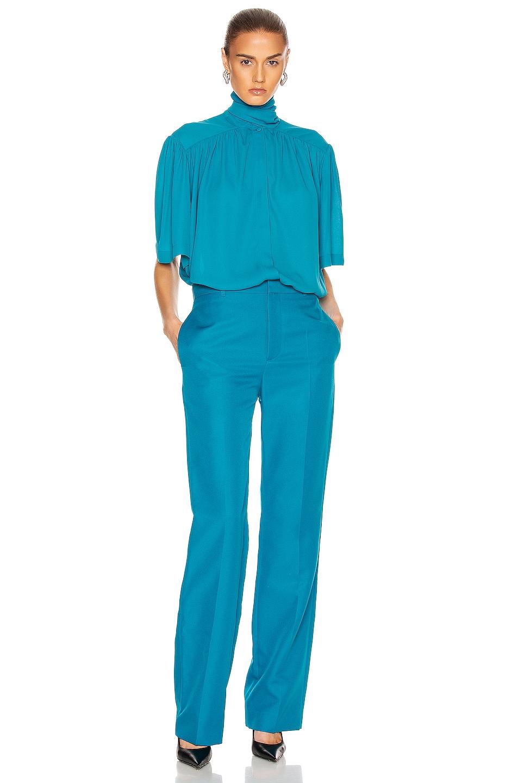 Image 4 of Balenciaga Tailored Pant in Petrol Blue