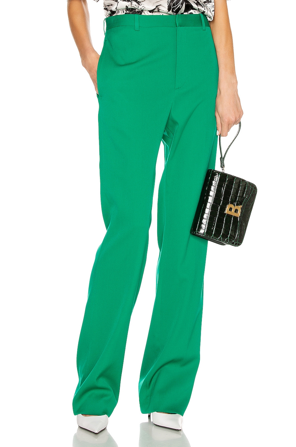 Image 1 of Balenciaga Tailored Pant in Emerald Green