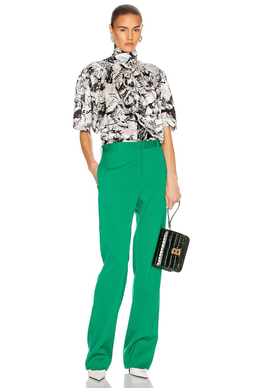 Image 4 of Balenciaga Tailored Pant in Emerald Green