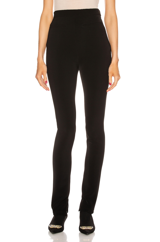 Image 1 of Balenciaga Stretch Zip Pant in Black