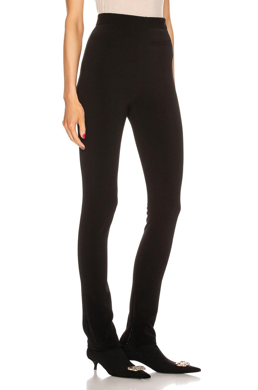 Image 2 of Balenciaga Stretch Zip Pant in Black