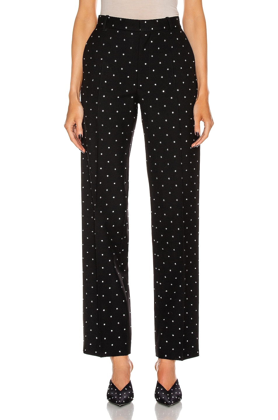Image 1 of Balenciaga Cropped Pant in Black