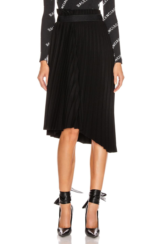 Image 2 of Balenciaga Elastic Skirt in Black