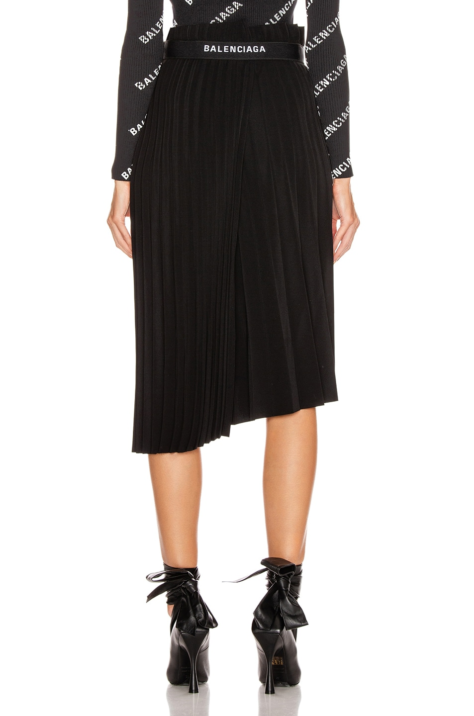 Image 4 of Balenciaga Elastic Skirt in Black