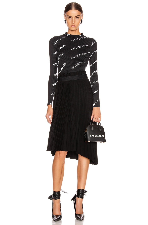 Image 5 of Balenciaga Elastic Skirt in Black