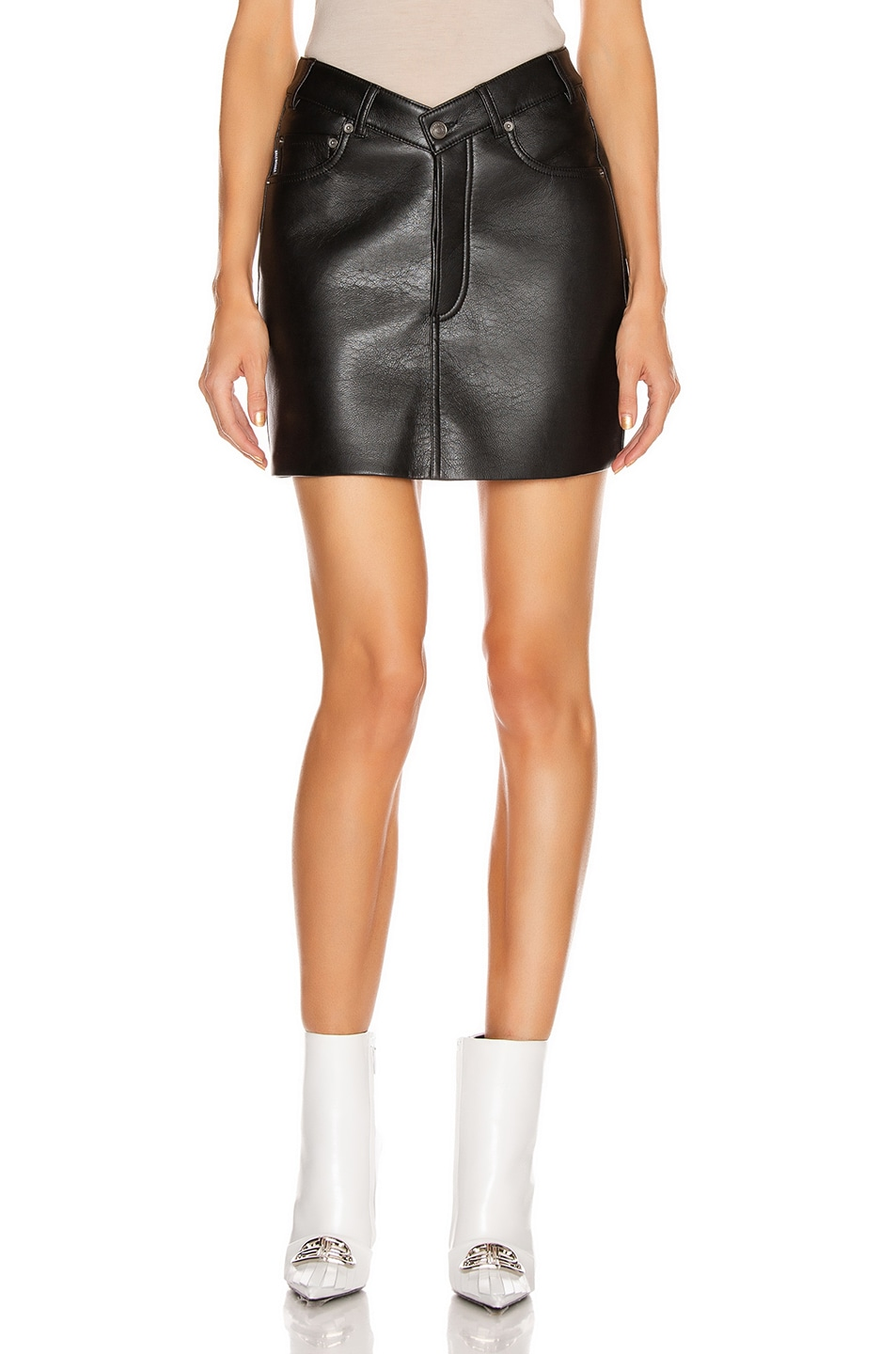 Image 1 of Balenciaga V Neck Skirt in Black