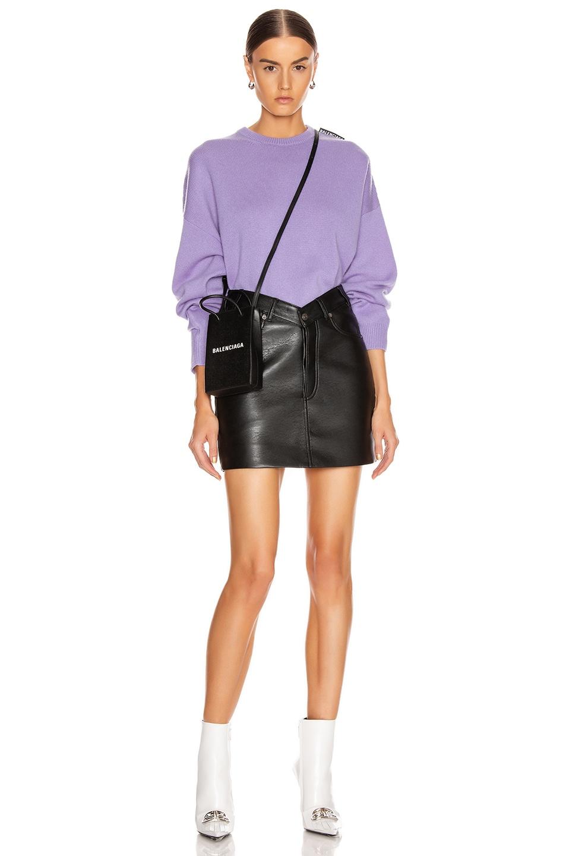 Image 4 of Balenciaga V Neck Skirt in Black