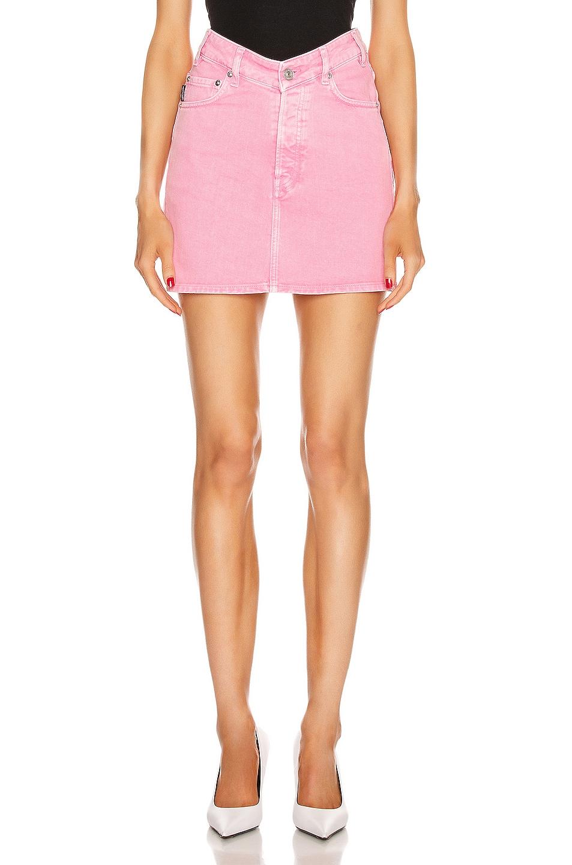 Image 1 of Balenciaga V Neck Mini Skirt in Vintage Pink