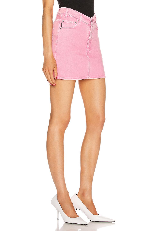 Image 2 of Balenciaga V Neck Mini Skirt in Vintage Pink