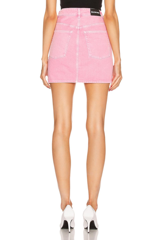 Image 3 of Balenciaga V Neck Mini Skirt in Vintage Pink