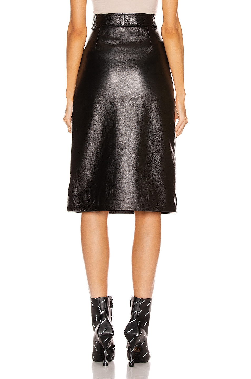 Image 3 of Balenciaga Buttoned Skirt in Black