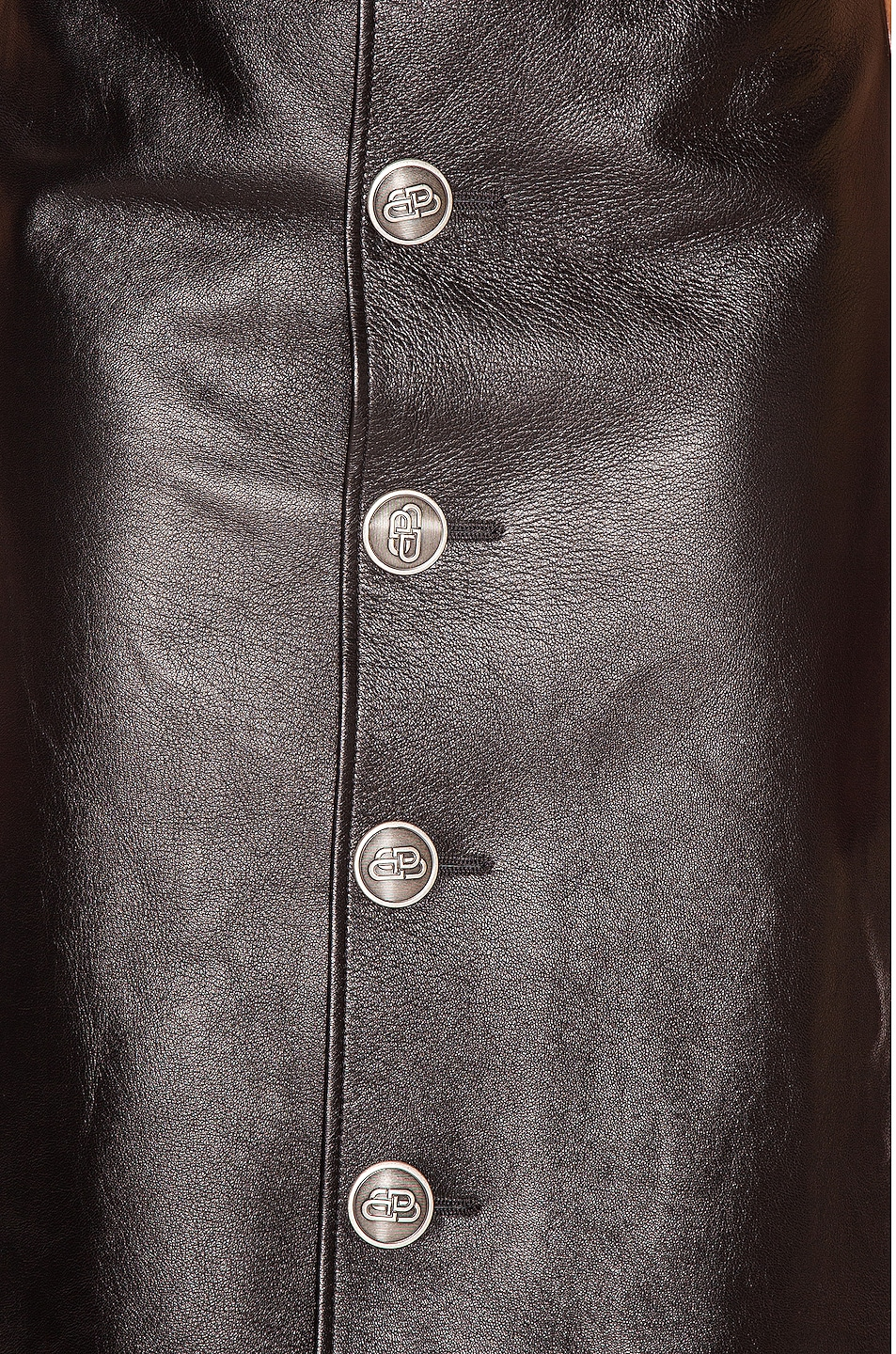 Image 5 of Balenciaga Buttoned Skirt in Black