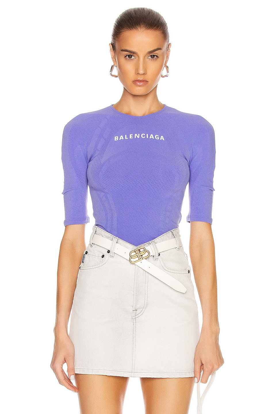 Image 1 of Balenciaga Athletic Top in Lilac