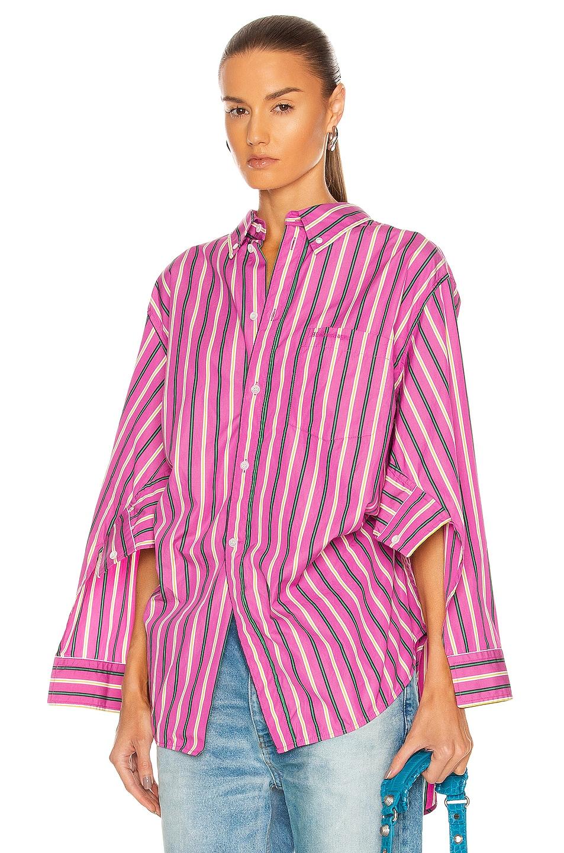 Image 1 of Balenciaga Wing Shirt in Pink & Green