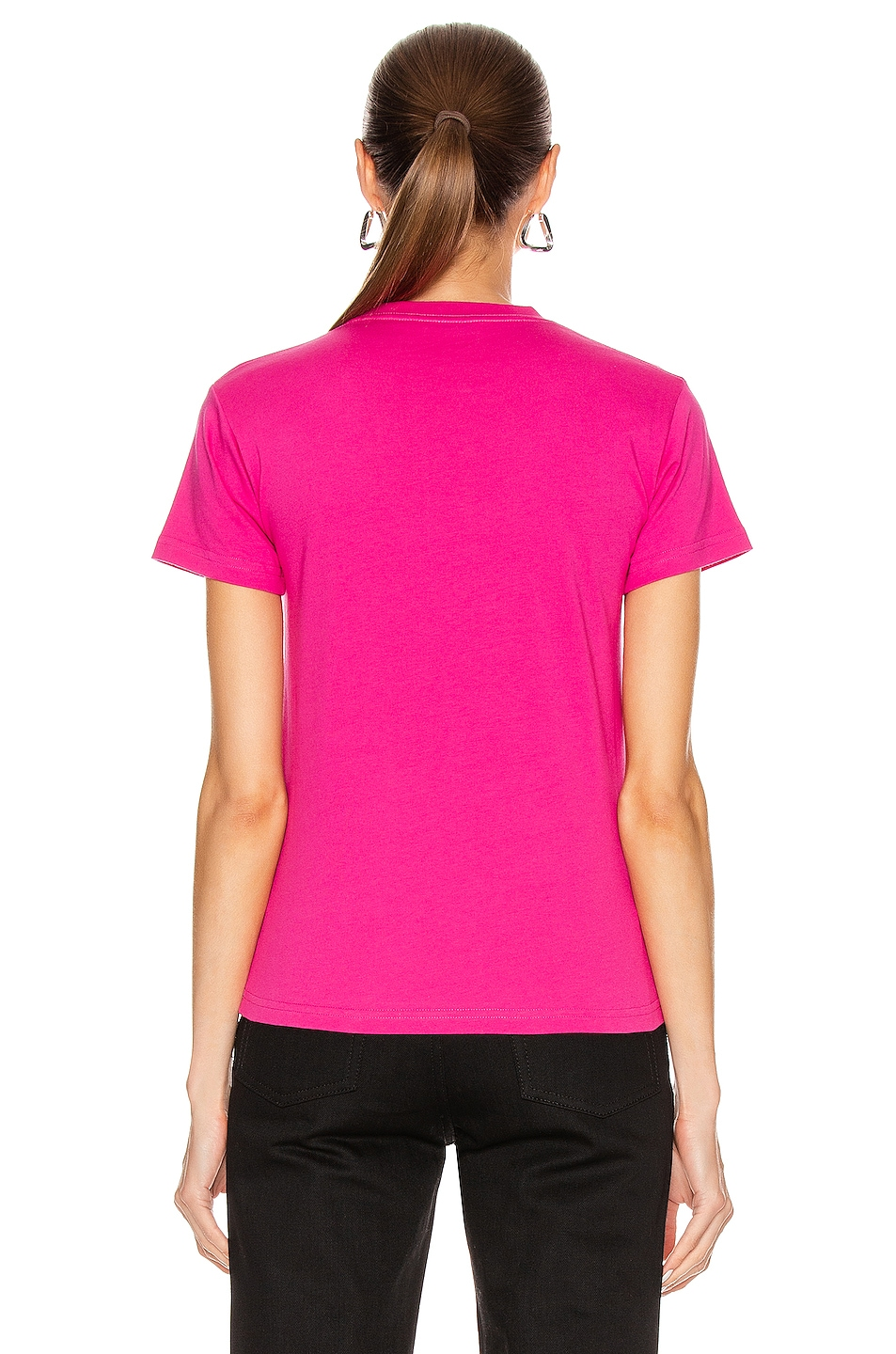 Image 3 of Balenciaga Copyright Fitted T Shirt in Pink