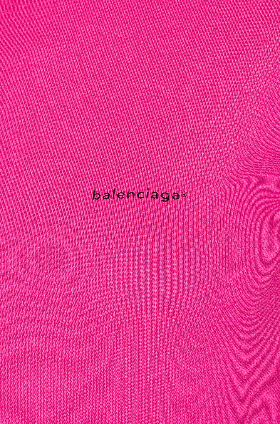 Image 5 of Balenciaga Copyright Fitted T Shirt in Pink