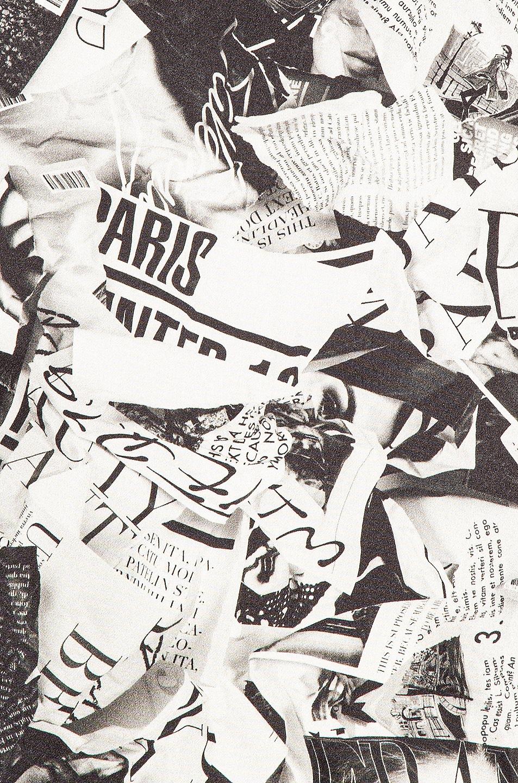 Image 5 of Balenciaga Short Sleeve Magazine Scarf Blouse in Black & White