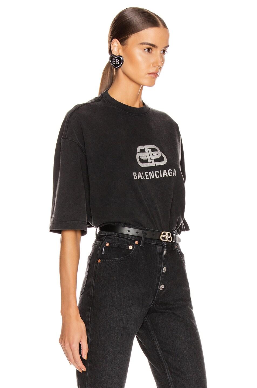 Image 2 of Balenciaga BB Regular T Shirt in Anthracite