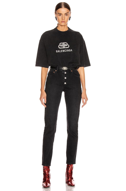 Image 4 of Balenciaga BB Regular T Shirt in Anthracite