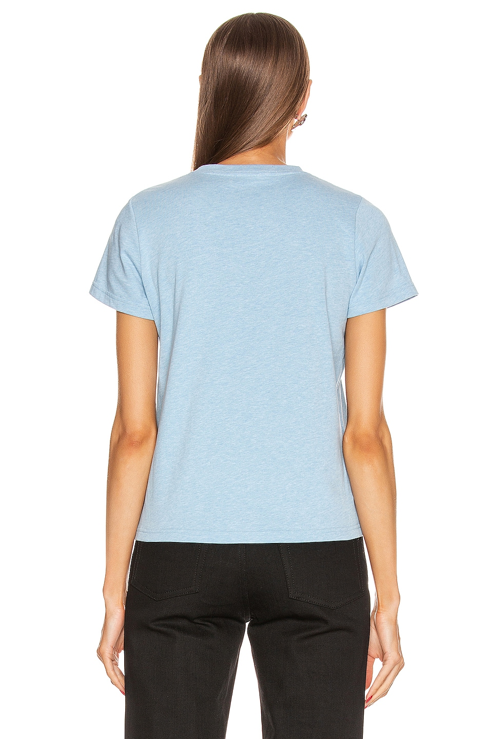 Image 3 of Balenciaga BB Fitted T Shirt in Baby Blue