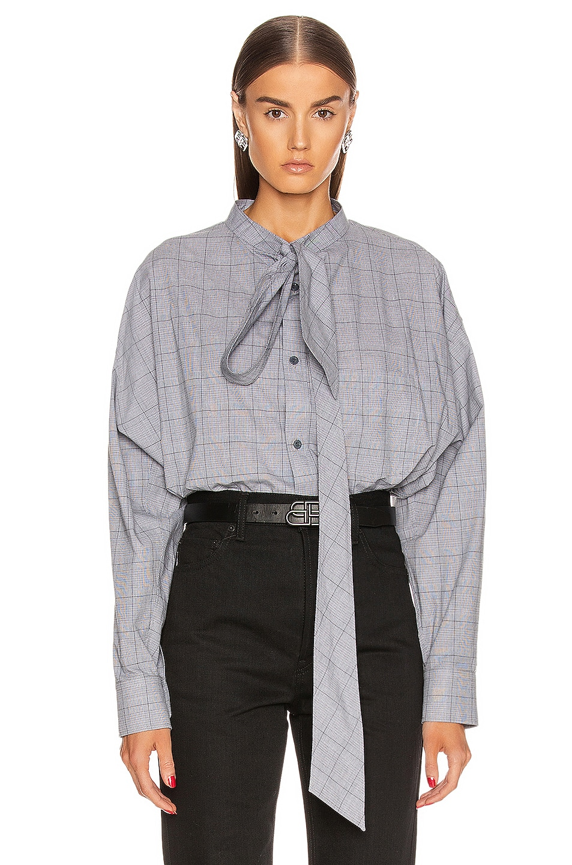 Image 1 of Balenciaga Swing Shirt in Black & White