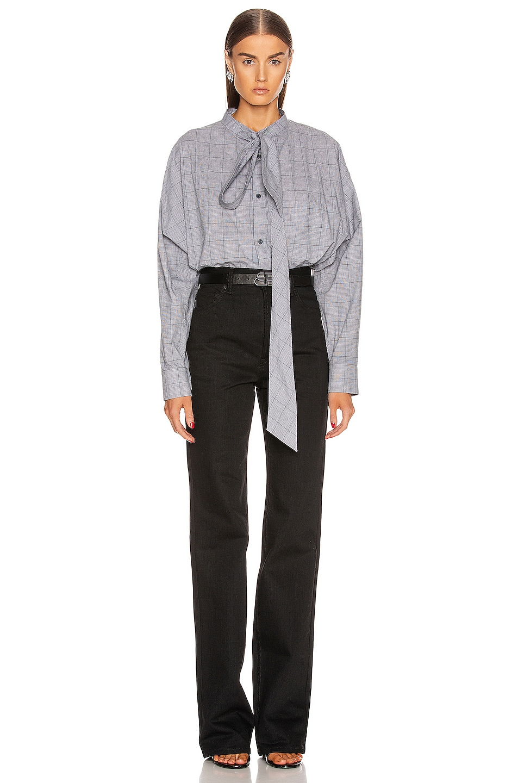 Image 5 of Balenciaga Swing Shirt in Black & White