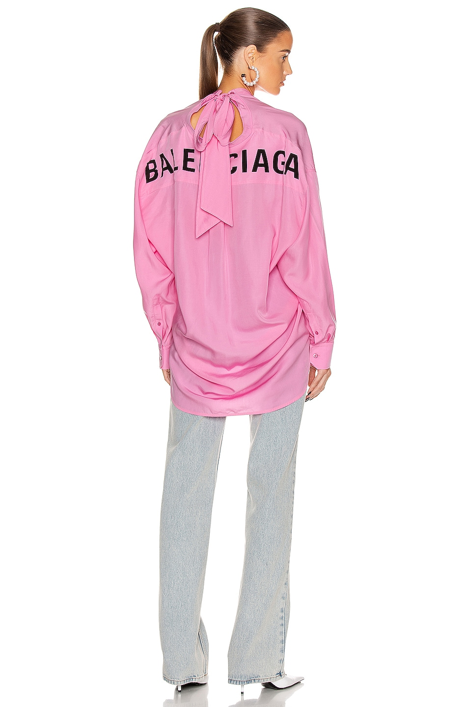 Image 1 of Balenciaga Swing Shirt in Pink